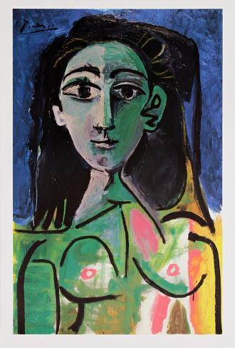 Buste de Femme (Jaqueline) Poster by Pablo Picasso - AllPosters.co.uk