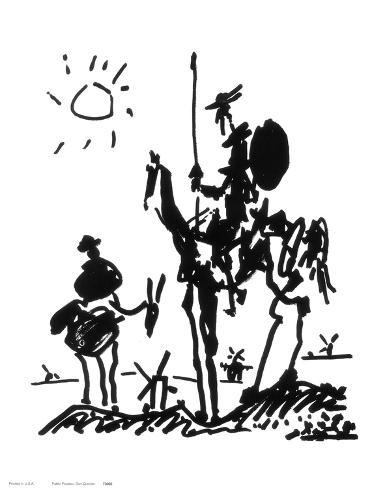Don Quixote, ca 1955 Konstprint