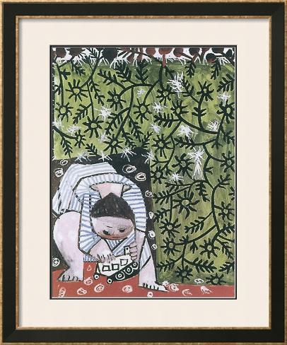 Enfant Jouant, 1953 Impressão artística emoldurada