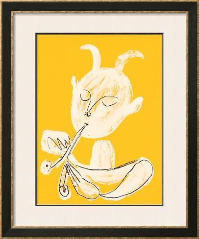 Faune Blanc, c.1946 Impressão artística emoldurada