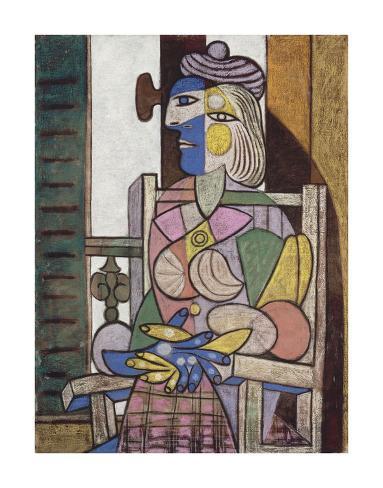 Femme assise devant la fenetre poster by pablo picasso for Devant la fenetre