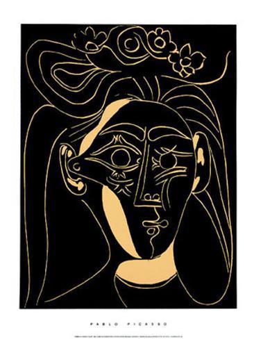 Femme au Chapeau Fleuri Serigraph by Pablo Picasso - at AllPosters ...