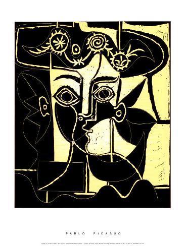 Femme au Chapeau Orne, c.1962 Serigraph by Pablo Picasso ...