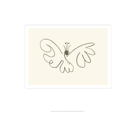 Fjärilen|The Butterfly Serigrafiprint (silkscreentryck)