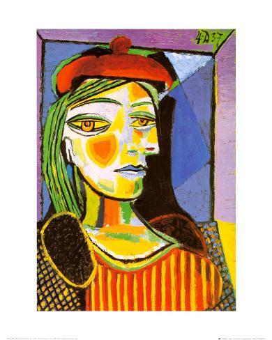 Girl with Red Beret Framed Art Print