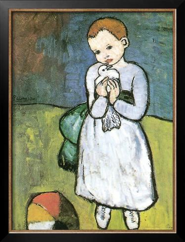 Kind Mit Taube 1901 Posters by Pablo Picasso at AllPosterscom