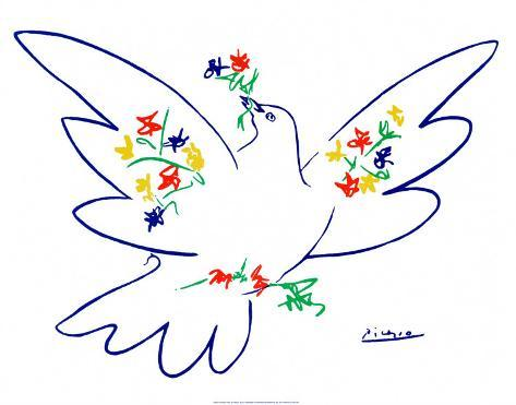 La paloma de la paz Lámina