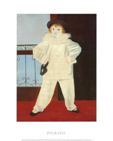 Paul as a Pierrot Art Print