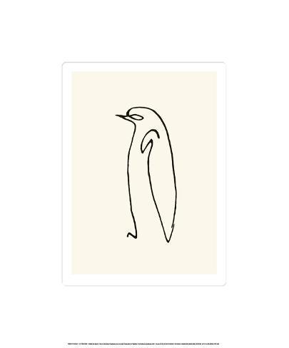 Pingvinen, ca 1907|Le Pingouin, c.1907 Serigrafiprint (silkscreentryck)