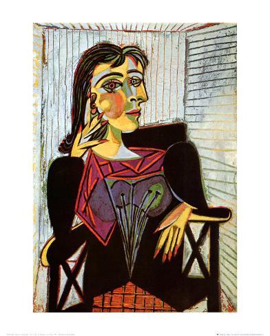 Portrait of Dora Maar, c.1937 Impressão montada