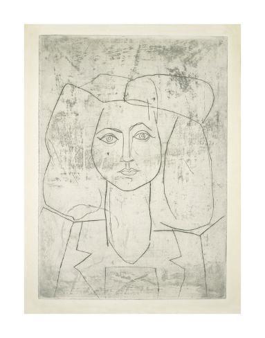 Portrait of Francoise, dressed... Art Print