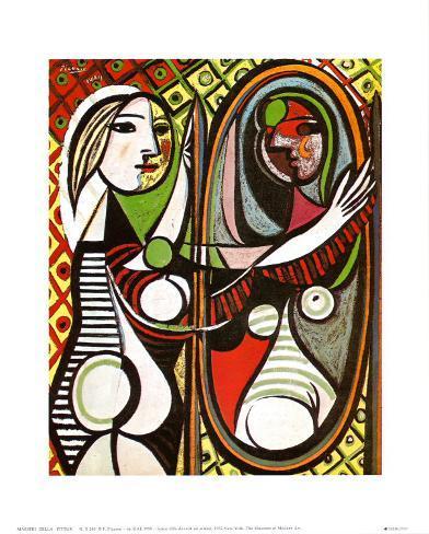 Ragazza davanti allo specchio circa 1932 stampa montata - Ragazza davanti allo specchio ...