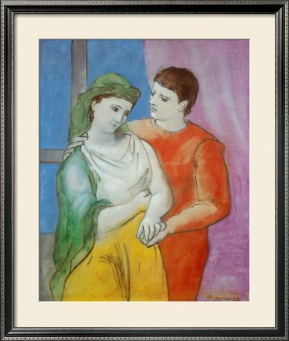 The Lovers Impressão artística emoldurada