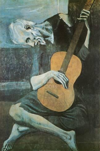pablo picasso the old guitarist essay One of the most celebrated of pablo picasso's paintings is the old guitarist which hangs in the galleries of the art institute of chicago the painting is from picasso's blue period where all his work was of course done in blue.