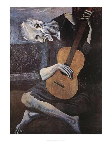 The Old Guitarist, c.1903 Art Print