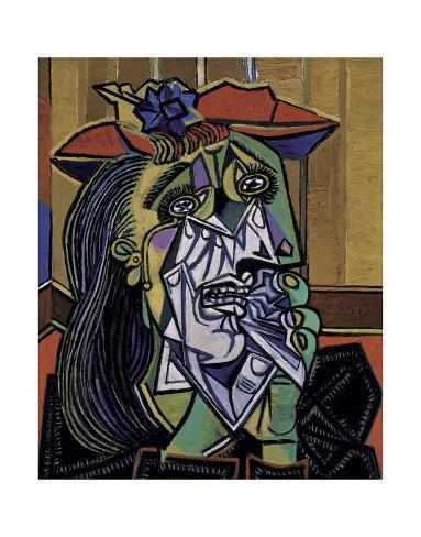 Weeping Woman, 1937 Art Print
