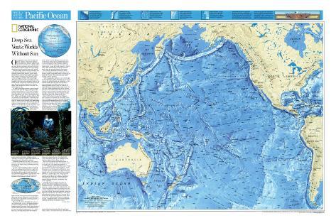 Pacific ocean floor map posters at allposters pacific ocean floor map gumiabroncs Choice Image