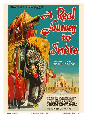 A Real Journey To India - Queen Elizabeth's trip through India, Pakistan, Nepal and Persia Art Print
