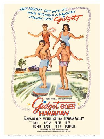 Gidget Goes Hawaiian - Starring Deborah Walley, James Darren Konstprint