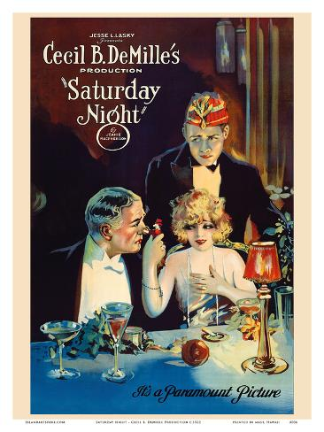 Saturday Night - Cecil B. DeMille Production Art Print