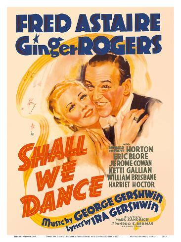 Shall We Dance - Starring Fred Astaire and Ginger Rogers - Music by George Gershwin Stampa artistica