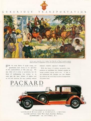 Packard, Magazine Advertisement, USA, 1930 Giclee Print