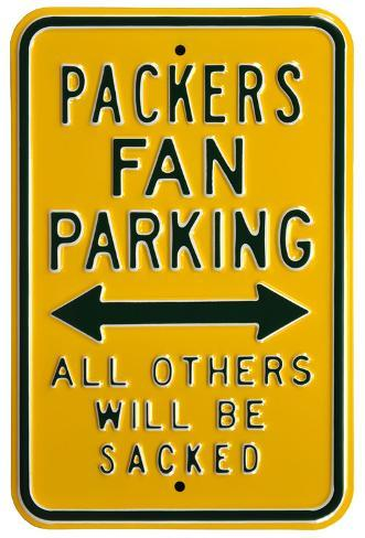Packers Sacked Parking Steel Sign Wall Sign