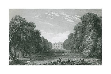 Packington Hall, Warwickshire Giclee Print
