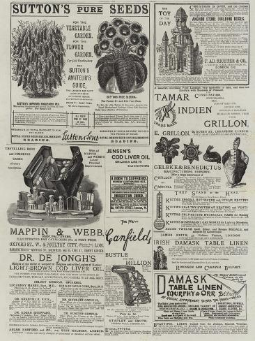 Page of Advertisements Stampa giclée