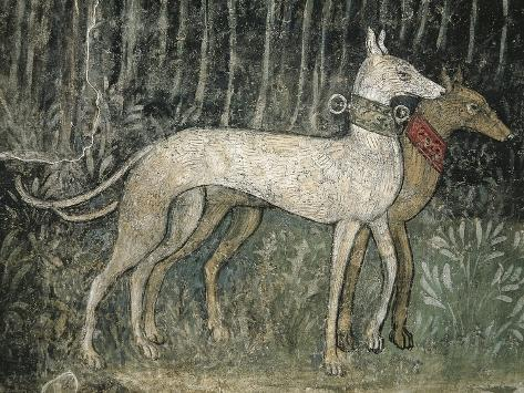 Pair of Hunting Dogs Giclee Print