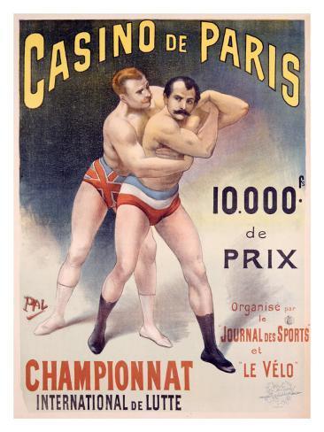 Casino de Paris Championnat de Lutte Giclee Print