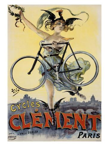 Cycles Clement Giclee Print