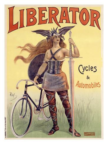 Liberator Cycles and Automobiles Giclee Print