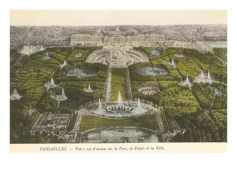 Palace at Versailles, France Art Print