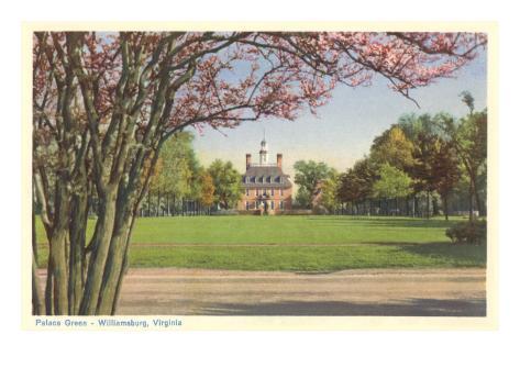 Palace Green, Williamsburg, Virginia Art Print