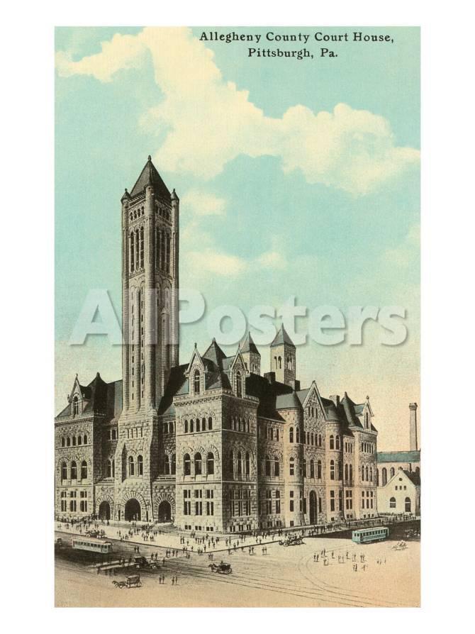 Palacio de justicia, Pittsburgh, Pensilvania Pósters en AllPosters.es