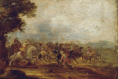 A Cavalry Engagement Giclee Print