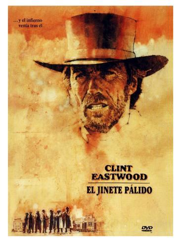 Pale Rider, Spanish Movie Poster, 1985 Stretched Canvas Print
