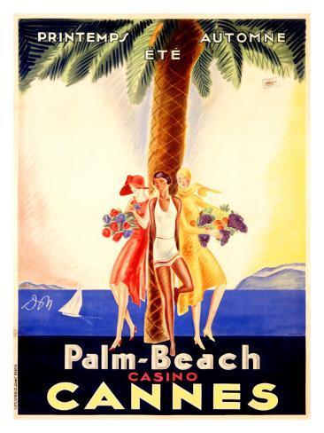 Palm Beach Casino Cannes Giclee Print