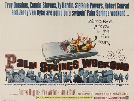 Palm Springs Weekend, 1963, Directed by Norman Taurog Giclee Print