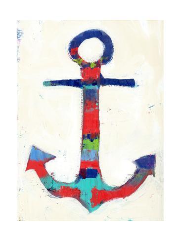 Anchor Stripe Art Print