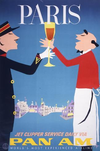 Pan Am - Paris Giclee Print