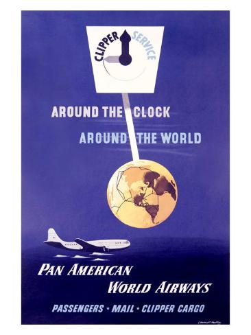 Pan Am World Clipper Cargo, 1940 Giclee Print