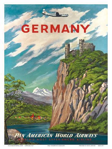 Pan American: Germany der Rhine, c.1950s Art Print