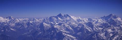 Aerial View of Himalayas, Kathmandu, Nepal Photographic Print