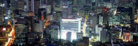 Aerial View of Seoul, South Korea, Korea Photographic Print