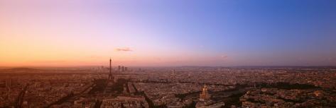 Aerial View, Paris, France Photographic Print