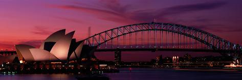 Australia, Sydney, Sunset Photographic Print