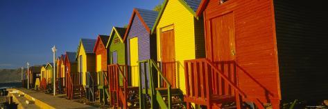 Beach Huts in a Row, St James, Cape Town, South Africa Photographic Print
