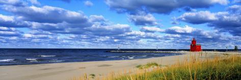 Big Red Lighthouse, Holland, Michigan, USA Photographic Print